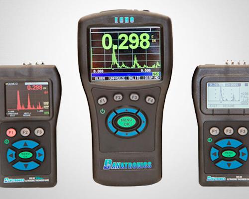 Voorbeeld afbeelding van apparatuur voor huiddiktemeting of vlakkeuring